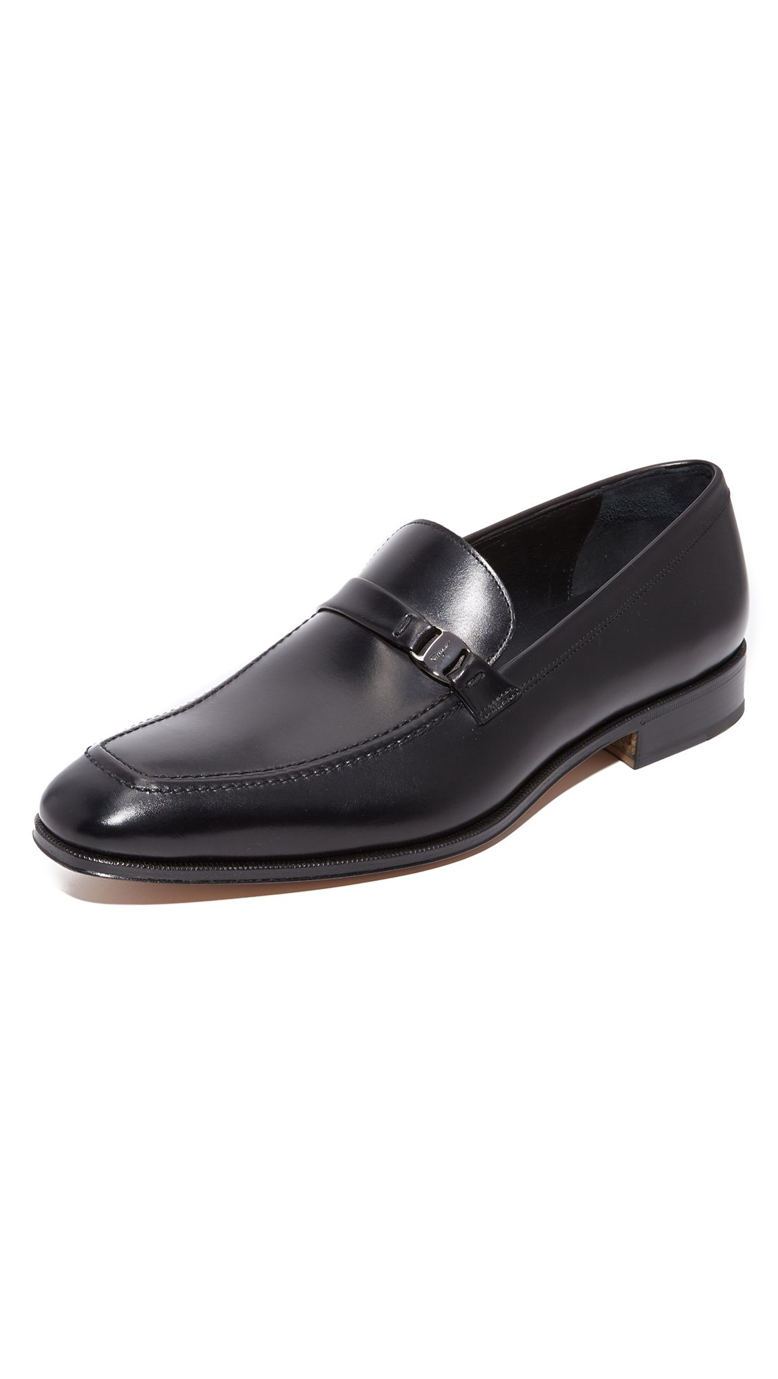 Salvatore Ferragamo Men's Suede Apron Toe Loafers Y906gD1