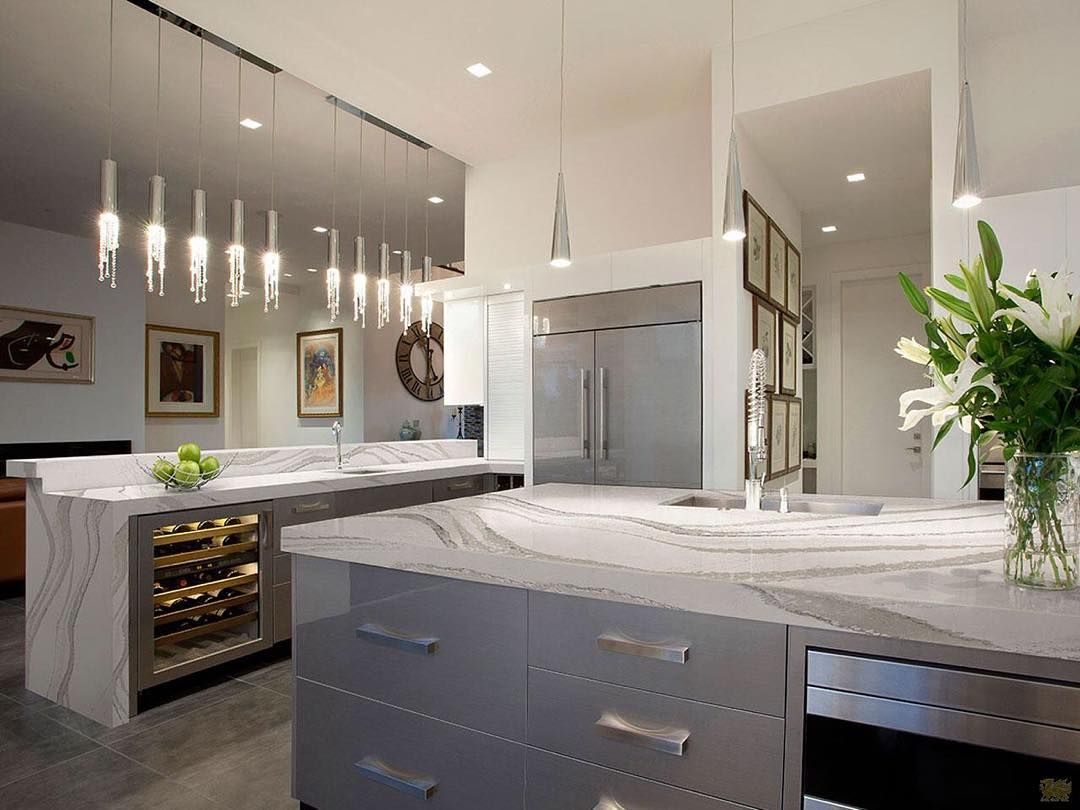 Pinfrustratedbaker On Kitchen  Pinterest  Grey Kitchen Awesome Kitchens With Grey Cabinets 2018
