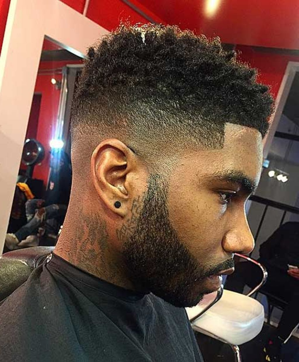 black men high fade