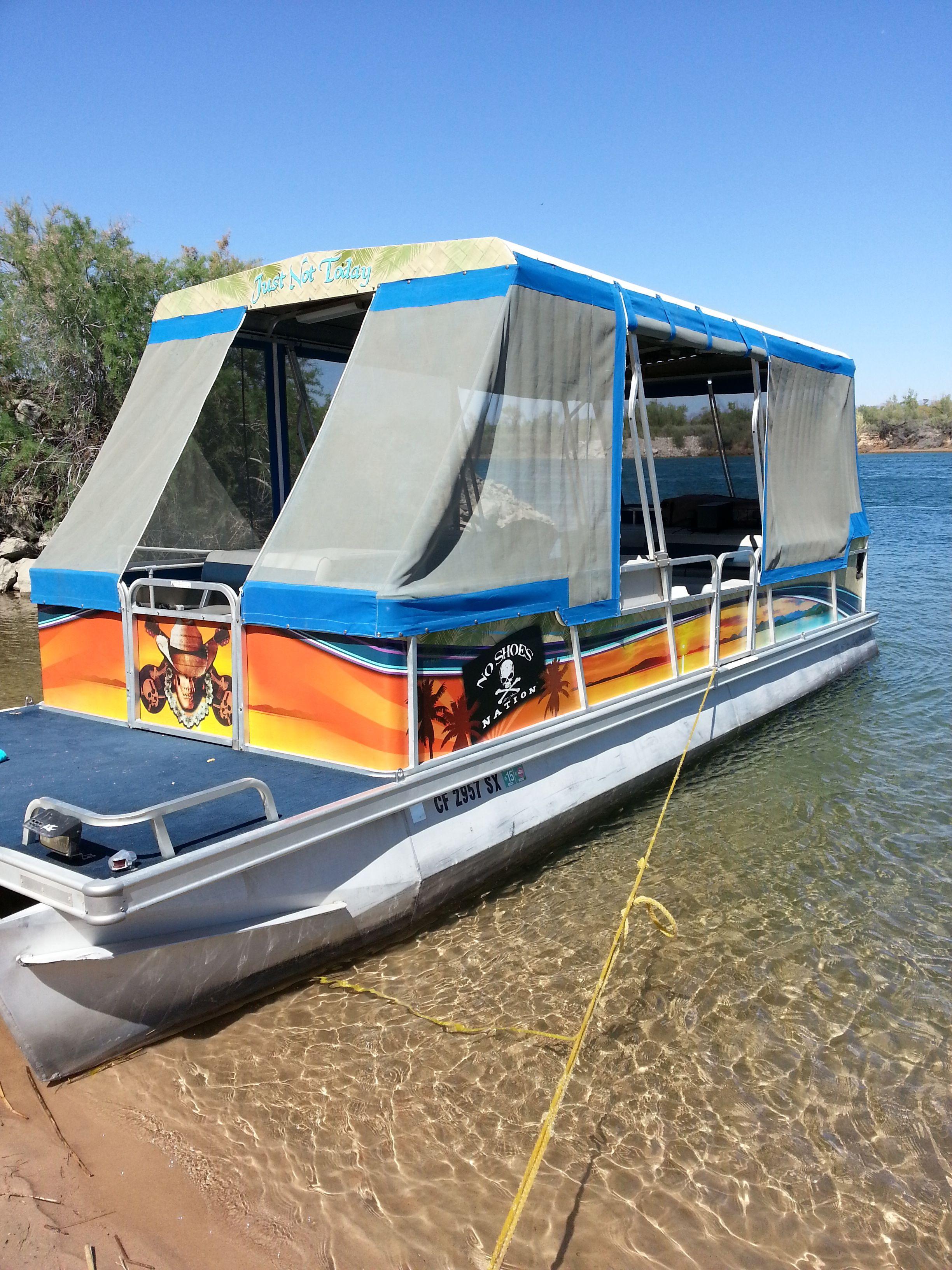 Kenny Chesney Themed Ink Vinyl Wrap Skin On A Pontoon Boat