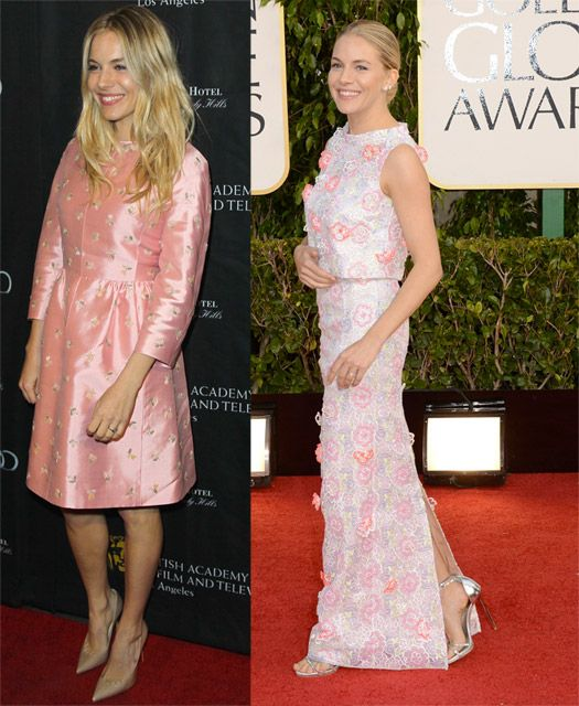Sienna Miller in Pink, 60's style