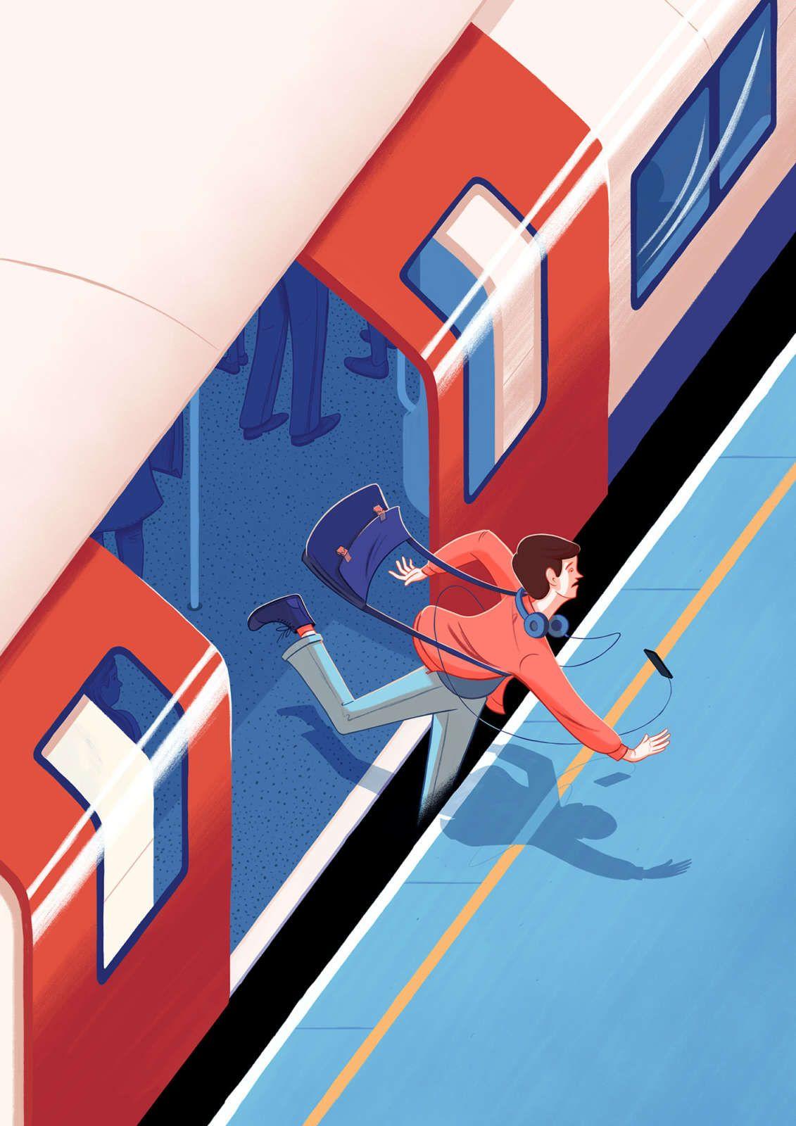 Studio Train illustration, Graphic illustration