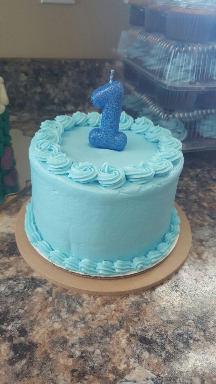 Einfache Torte blau First birthday cakes, Baby cake