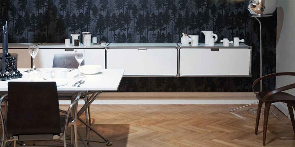 Design Möbel Esszimmer, Wandboard, Esstisch System 180 System