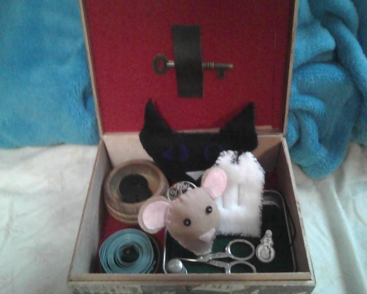 A Sewing Box Based On The Movie Coraline It Comes With A Cat S Head Pincushion Two Black Buttons For Eyes And A Cir Sewing Box Pin Cushions Things To Come