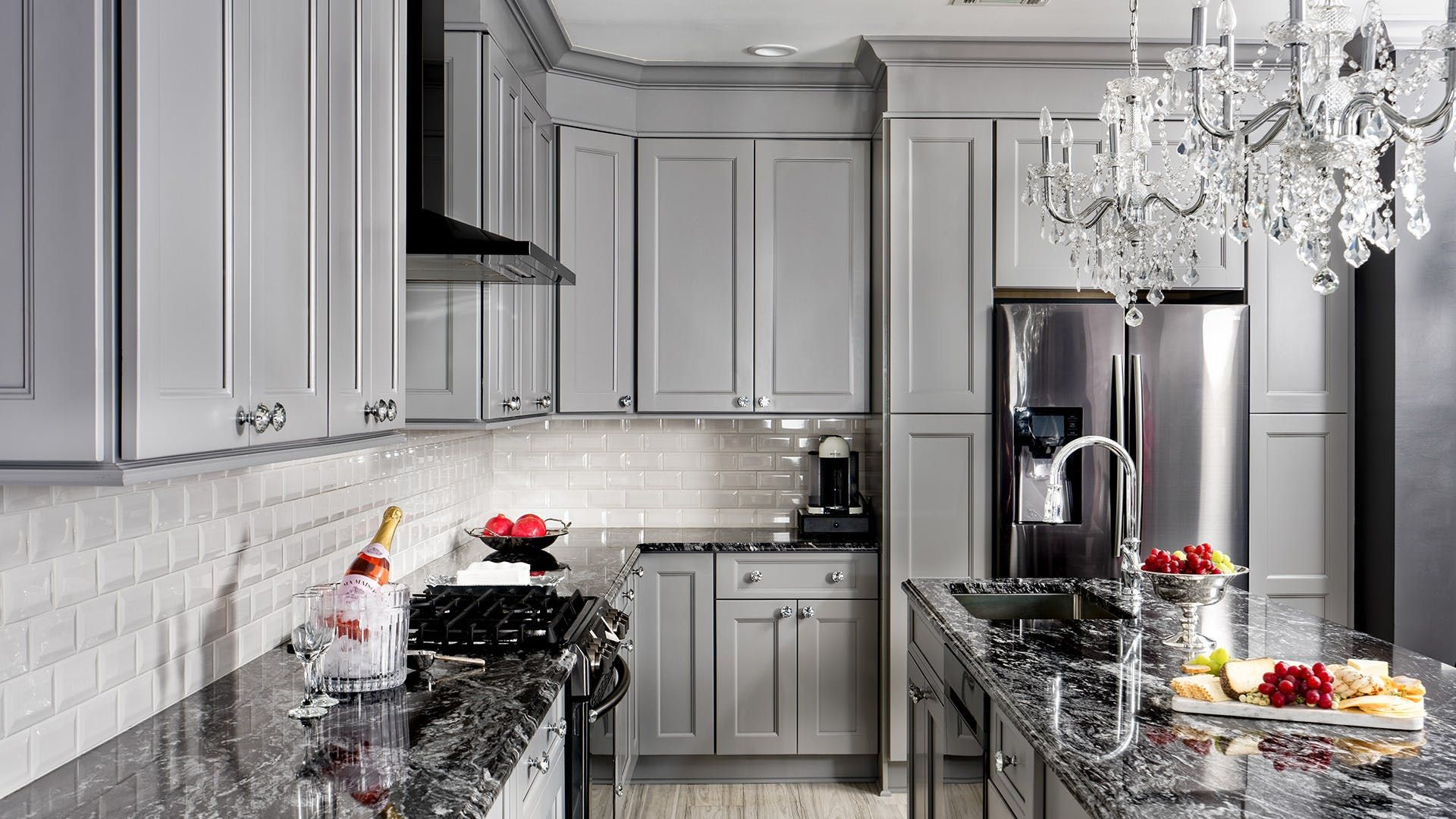 Fabuwood Allure Nexus Slate Kitchen Cabinets From Aaa Distributor A Graceful Wide Frame Creates A Balance In 2020 Grey Kitchen Cabinets Kitchen Cabinets Slate Kitchen