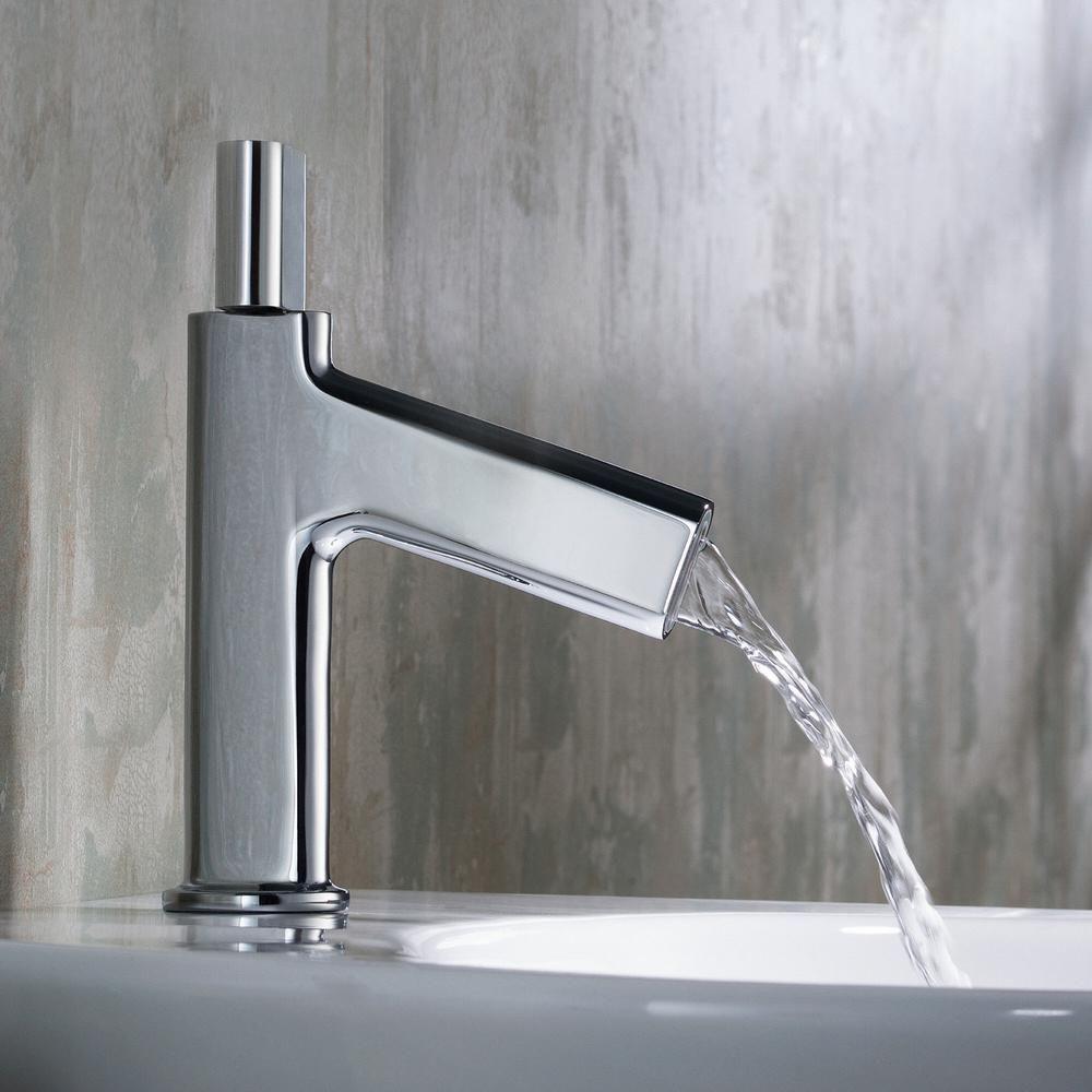 Kraus Ino Single Hole 1 Handle Low Arc Bathroom Faucet In Chrome