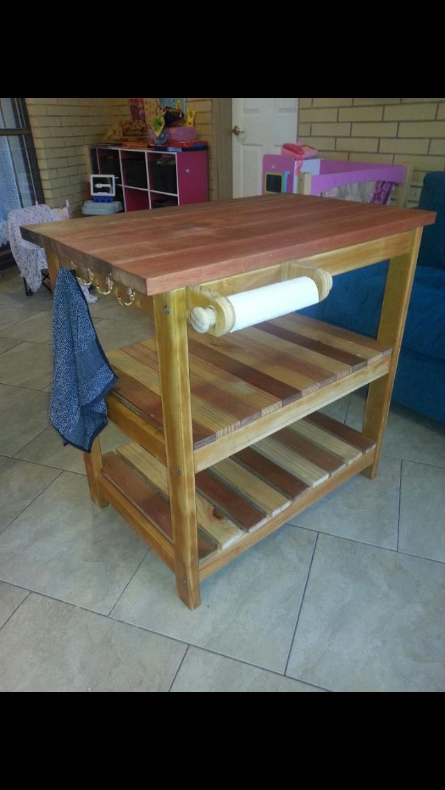 Old Wooden Change Table Made Into Island Bench