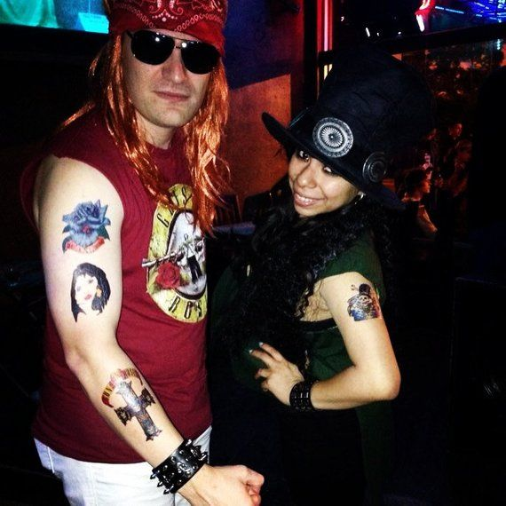 Axl Rose Slash Printed Temporary Tattoos Products In
