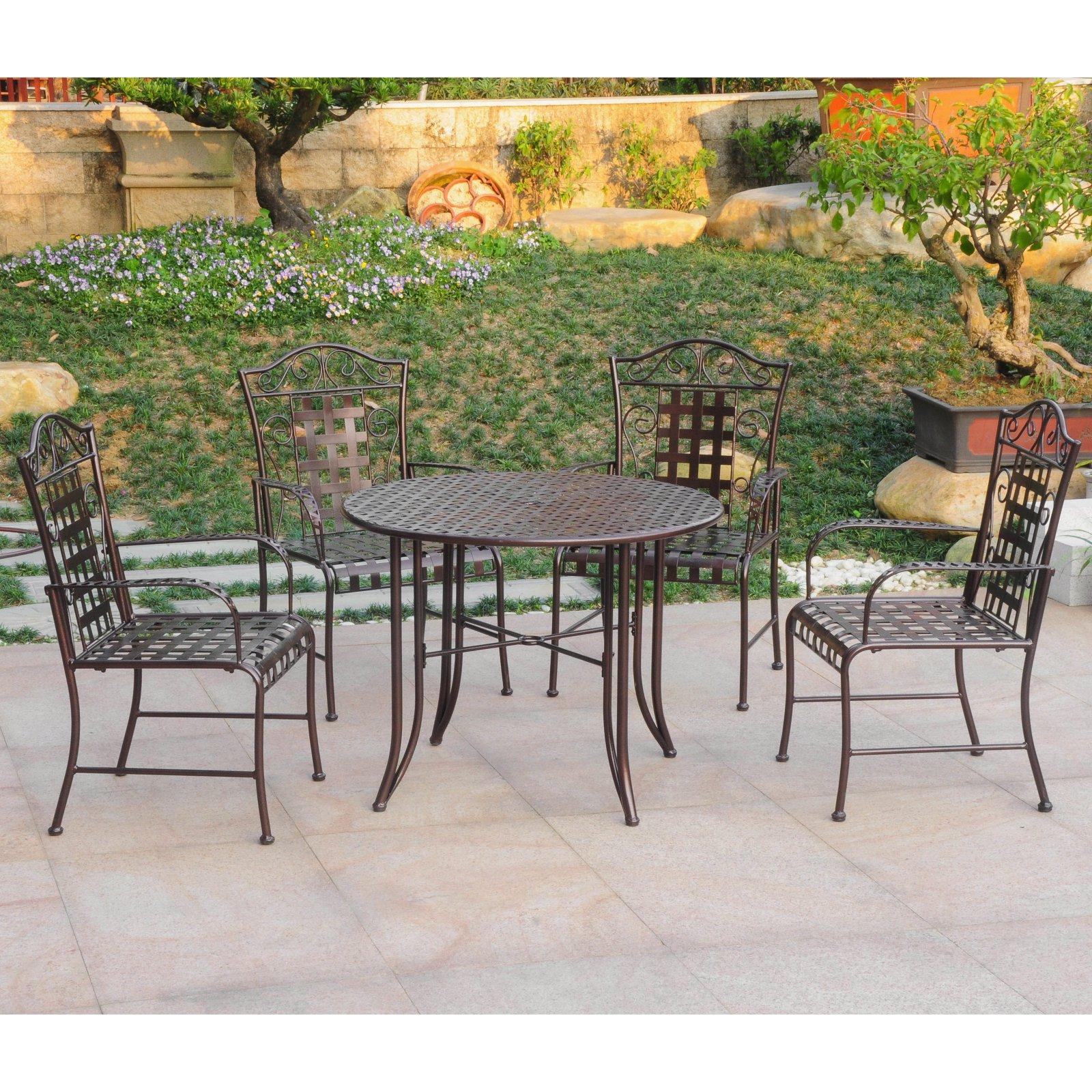 International caravan mandalay 5 pc outdoor patio dining set