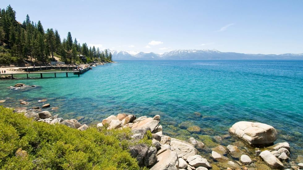 The Beach At Zephyr Cove In South Lake Tahoe Is A Stunning Location For Your Destination Wedding Destinationwedding Tahoewedding Www Tahoeweddingsites