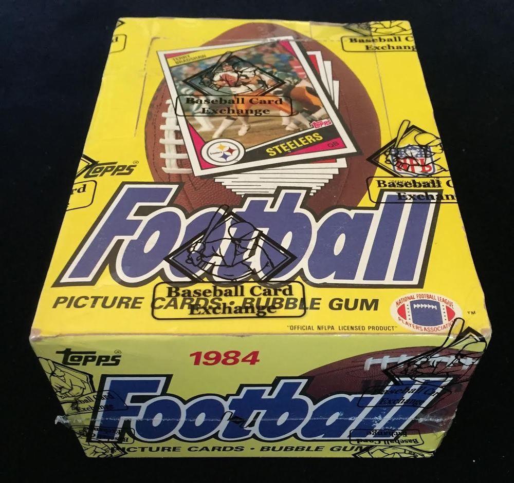 1984 topps football wax box bbce auth marino elway rc