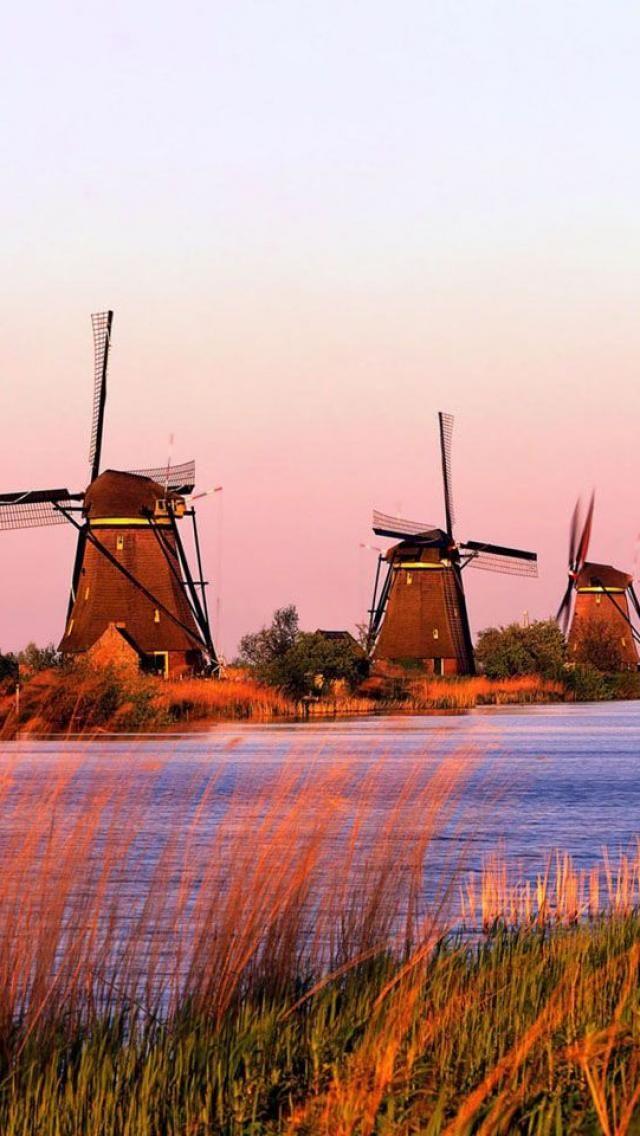 kinderdijk south holland netherlands windm hlen in. Black Bedroom Furniture Sets. Home Design Ideas