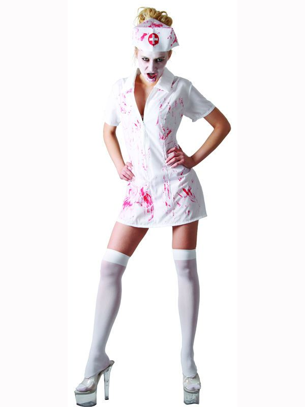 324bde50773 Adult 6-8 Zombie Killer Nurse New Fancy Dress Costume Sexy Halloween Horror  in Clothes, Shoes & Accessories, Fancy Dress & Period Costume, Fancy Dress  | ...