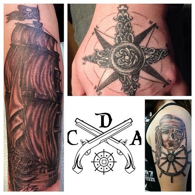 It's a #tattootuesday me harties!!! Go out and find some awesome #pirate #tattoos and tag us or DM us a pic. We will showcase the best ones at the end of the day and tag the person who submitted it and the collector! Now go bring in the #best #booty!!! (Images courtesy of @josh_edmonds Artist: @danieljapaniel)