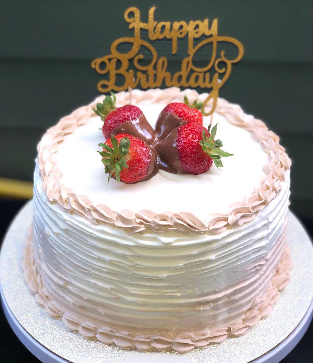 Happy Birthday Robert I Hope You Like Your Cake Banana Bread Cake With Fresh Banana Filling And Strawberries And With Choc Banana Bread Cake Cake Bread Cake