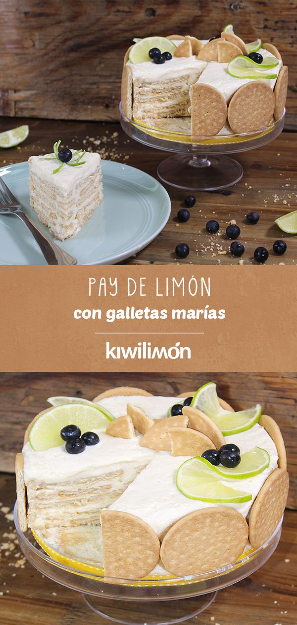 Pay de lim n con galletas mar as receta en 2019 for Platillos faciles y rapidos
