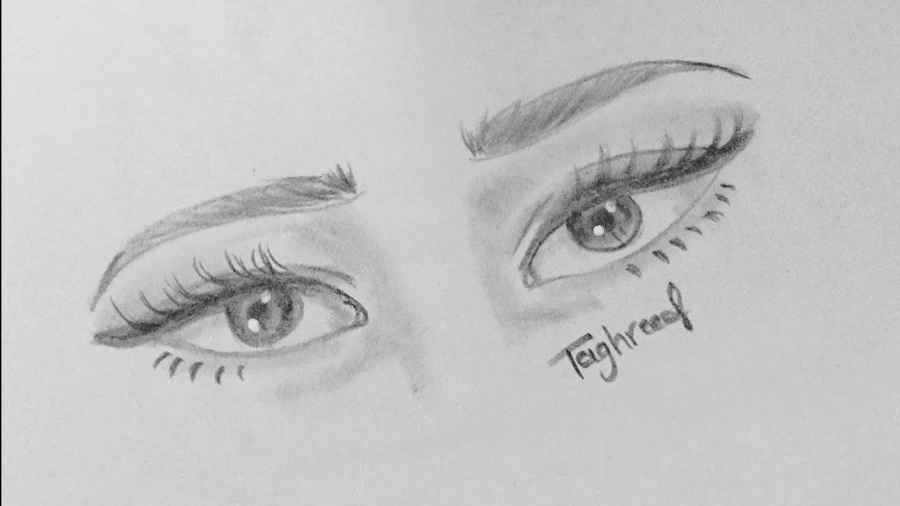 How To Draw Cute Eyes Step By Step Easy Pencil Drawing Amazing