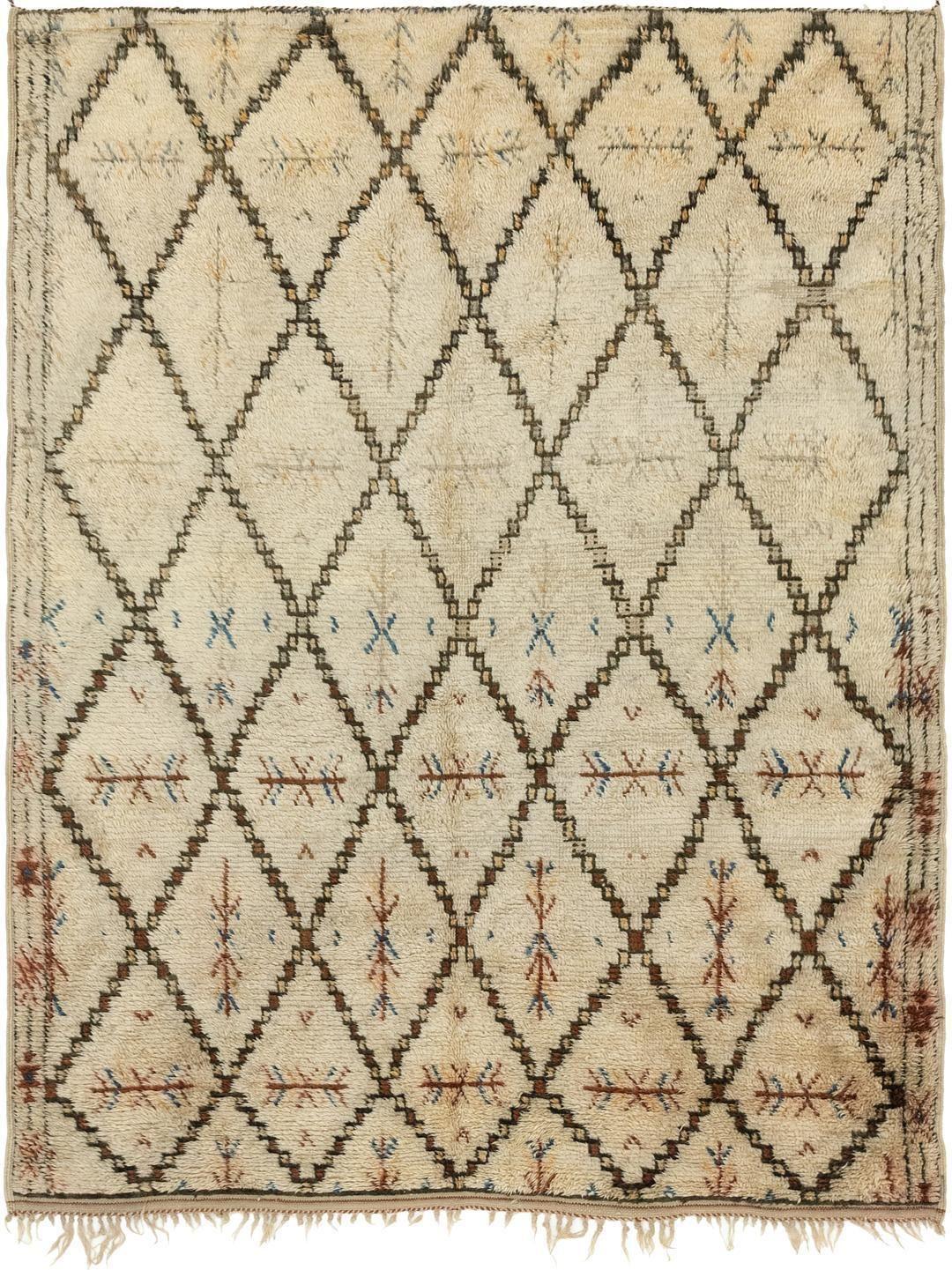 Beige 5' 7 x 7' 4 Moroccan Rug Oriental Rugs eSaleRugs