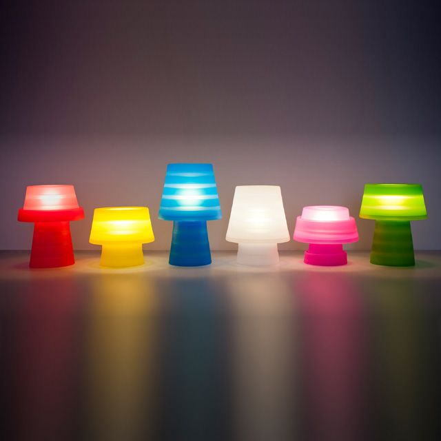 Lampe à Poser Colours Milly Rouge Luminaires Lighting Table