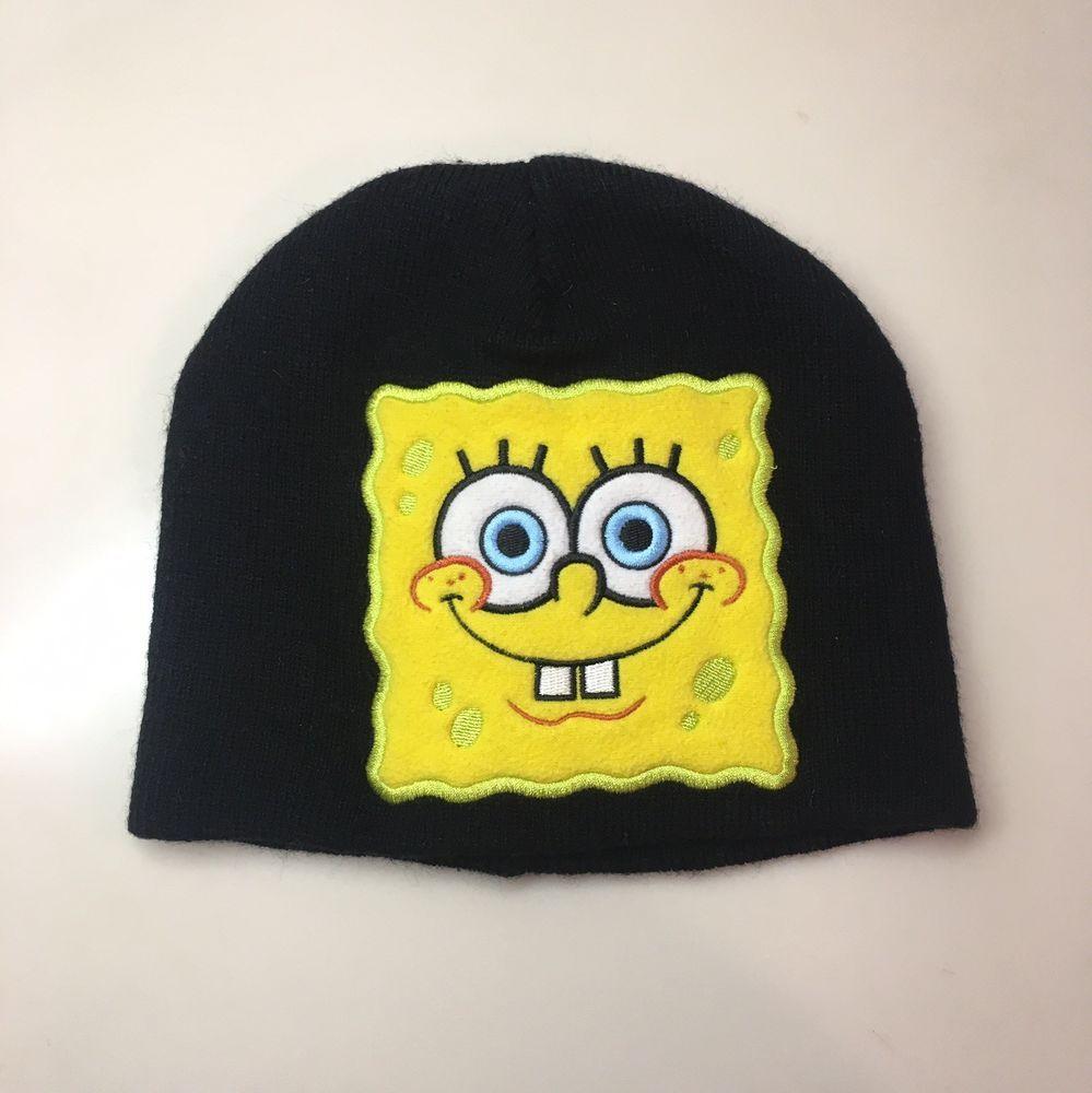 031b0328b18b6 SpongeBob SquarePants Beanie Cap Black  fashion  clothing  shoes   accessories  kidsclothingshoesaccs  boysaccessories (ebay link)