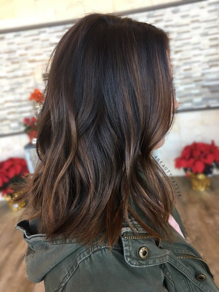 Pin By Amy Perez On Balayage Hair Styles Black Hair With Highlights Balayage Hair