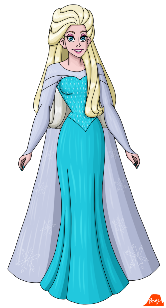 Elsa With Her Hair Down By Perrywhite On Deviantart Down Hairstyles Her Hair Hair