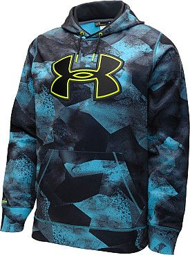c5d93faefb03a PRINTED BIG STORM LOGO HOODIE UNDER ARMOUR