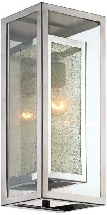 possini euro design double box chrome 15 1 2 h wall light