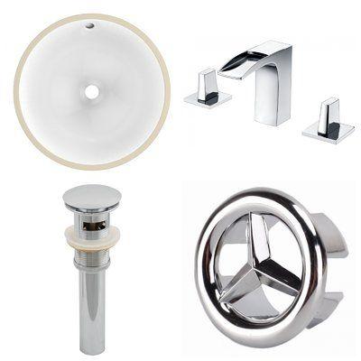 Cupc Ceramic Circular Undermount Bathroom Sink With Faucet And Overflow Rectangular Sink Bathroom Sink Undermount Sink