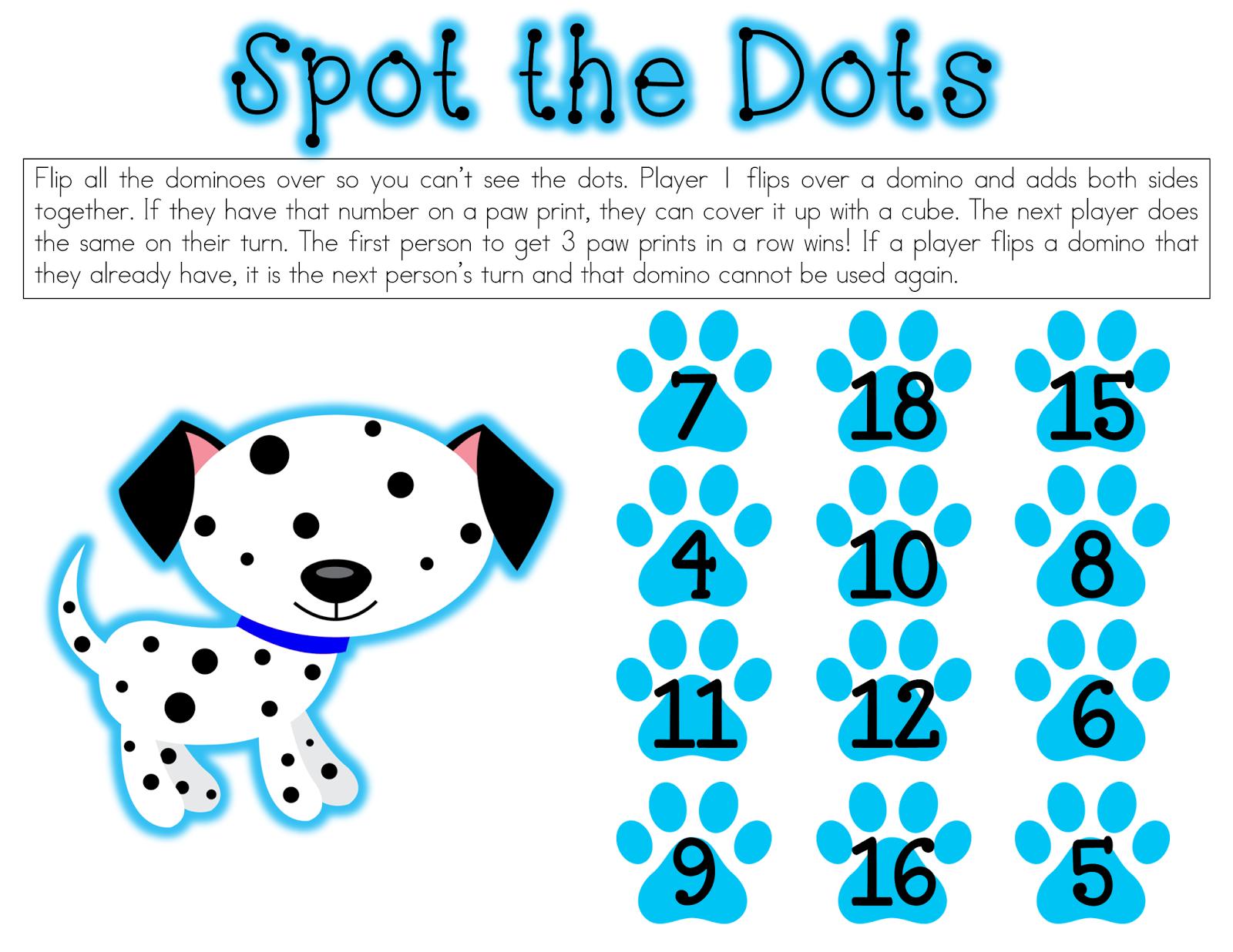 Cute domino/unifix cube partner game freebie! | Kindergarten ...