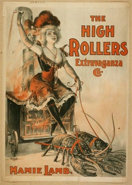 Poster for burlesque show 1890