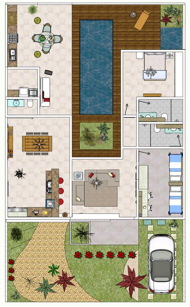 Plantas de casas modernas e econ micas house for Casetas economicas