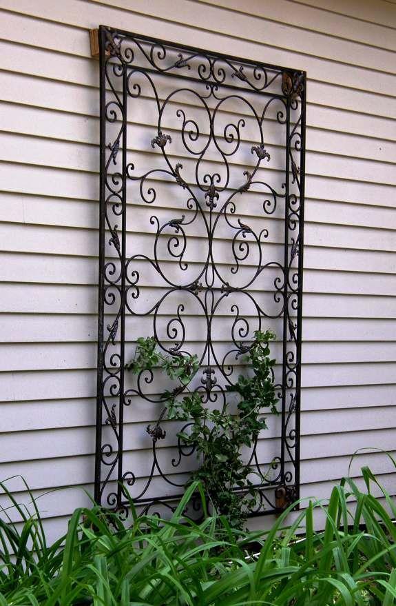Wrought Iron Trellis Garden Wall Decor Garden Trellis Designs
