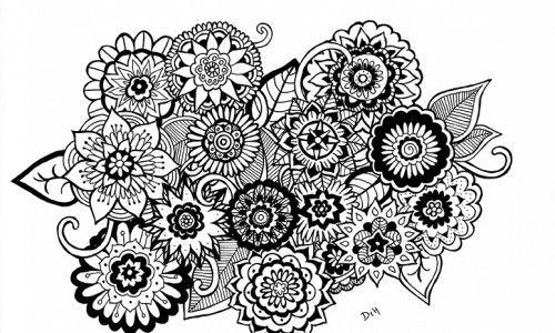 Zentangle Art Flores Buscar Con Google Que Hermosas Flores