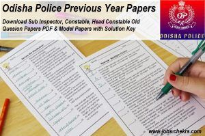 odisha police previous year question paper si constable model