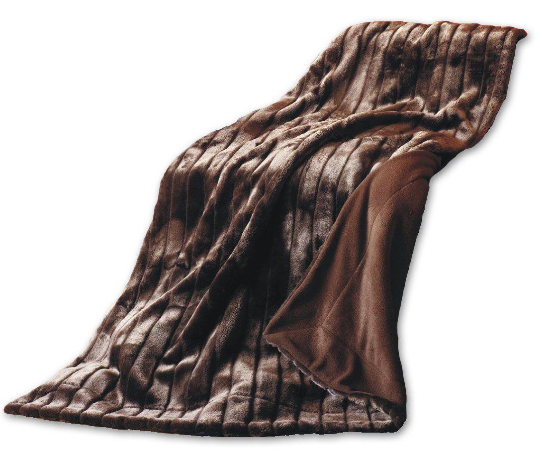 Mesana F 10075 43 Fellimitat Wohndecke Nerz Mit Mikrofaser Fleece Abseite 150 X 200 Cm Dunkelbraun Amazon De Kuche Haushalt Bordeaux Home Abs