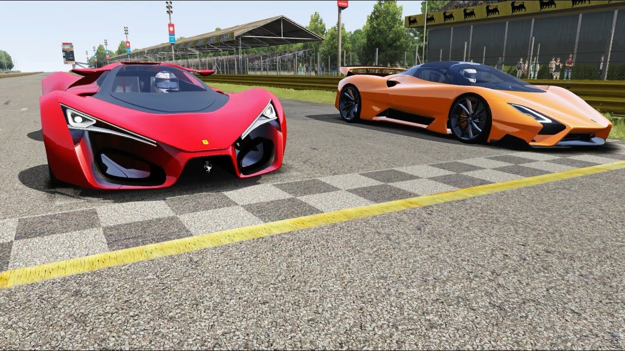 Ferrari F80 Concept vs SSC Tuatara at Monza Full Course
