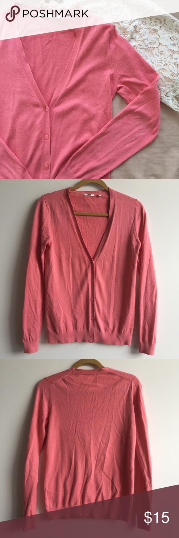 Uniqlo coral cardigan | Sweater cardigan, Coral cardigan and Cardigans