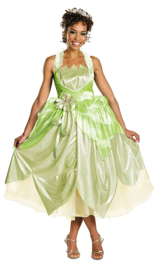 Plus Size Tiana Shimmer Deluxe Princess Costume - Princess Costumes ...