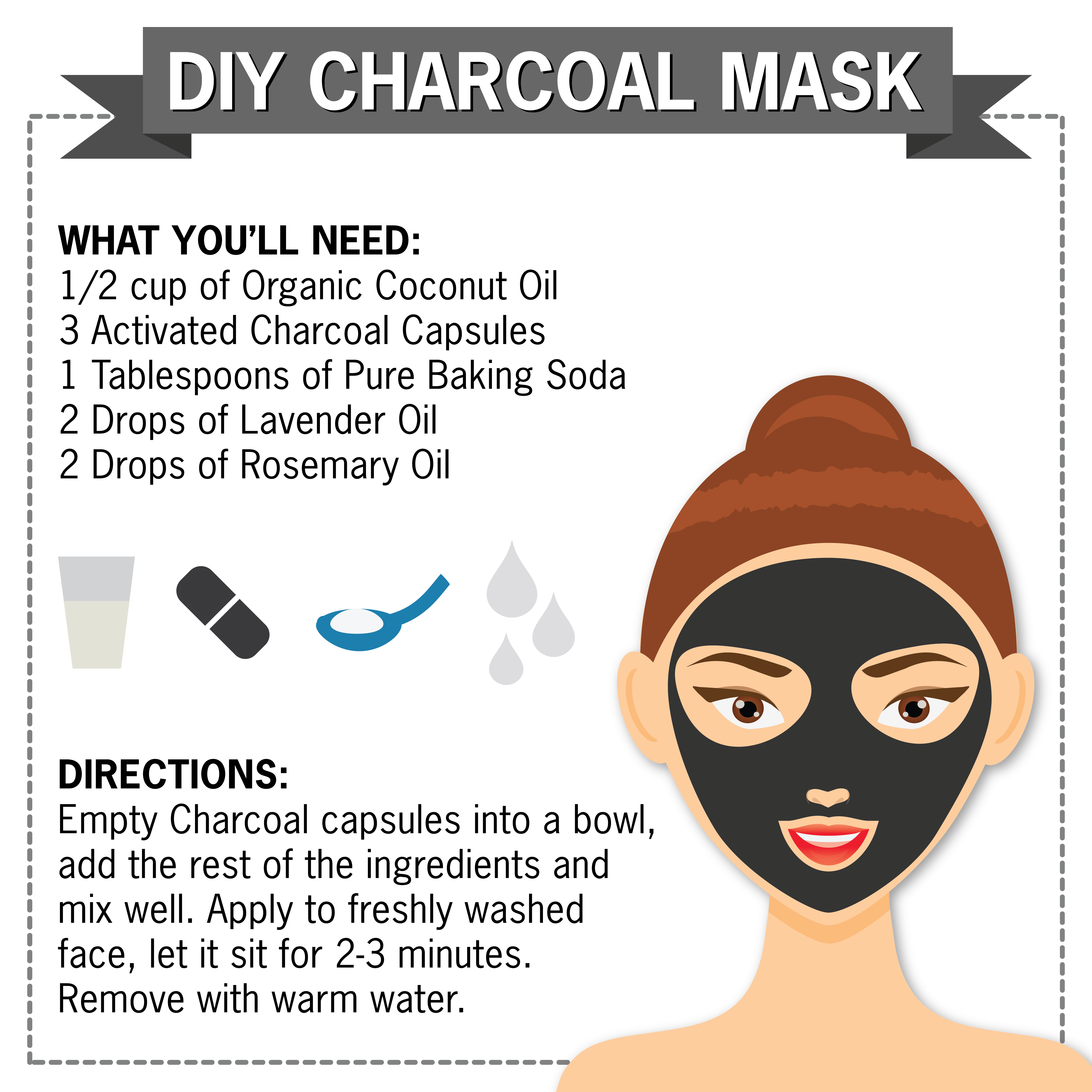 Nature's Truth DIY Charcoal Mask Activated Charcoal Essential Oils Coconut Oil #HomemadeSkinCareForAcne