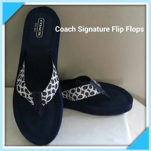 Coach Jessalyn Navy Blue Flip Flop