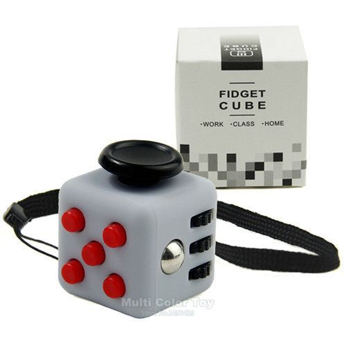 Mini Fidget Cube Vinyl Desk Toy Keychain Squeeze Fun Stress Reliever 22cm 11 Colour Click Glide Flip Spin Breathe Roll With Box