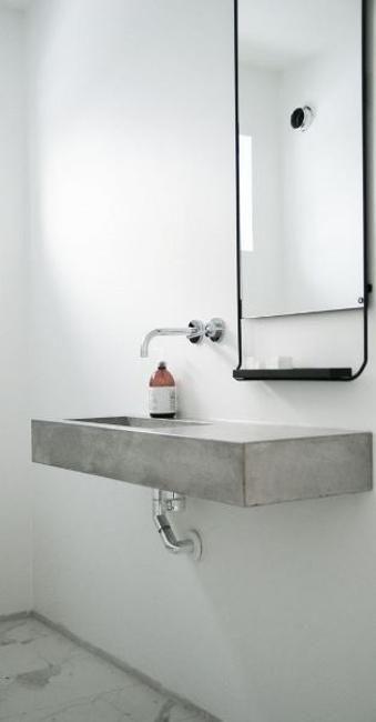 Modernes Badezimmer sinkt, um kleines Badezimmer-Design zu betonen – Neueste Dekor