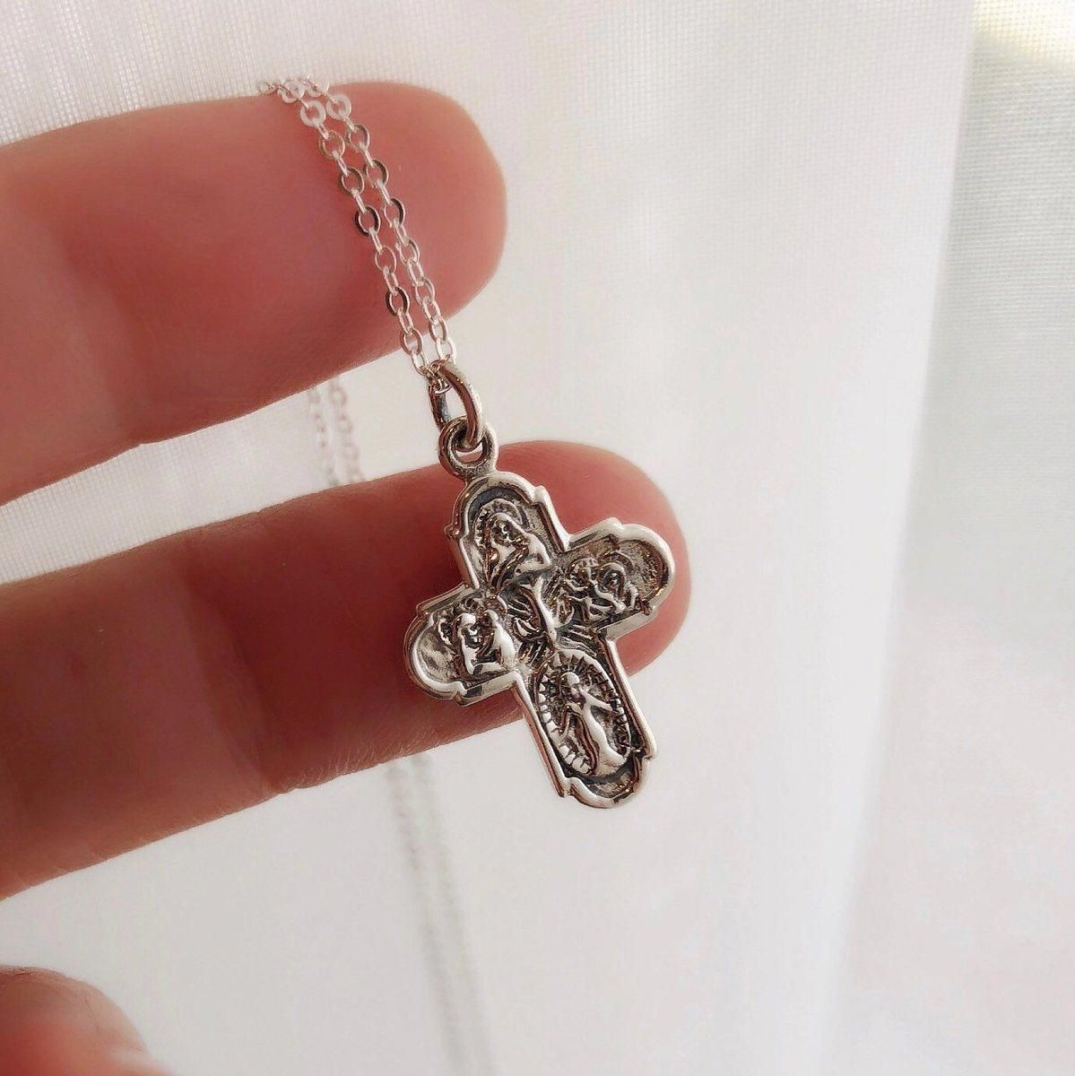 717830772 Sterling silver cross necklace super cute. #crossnecklace | cross ...