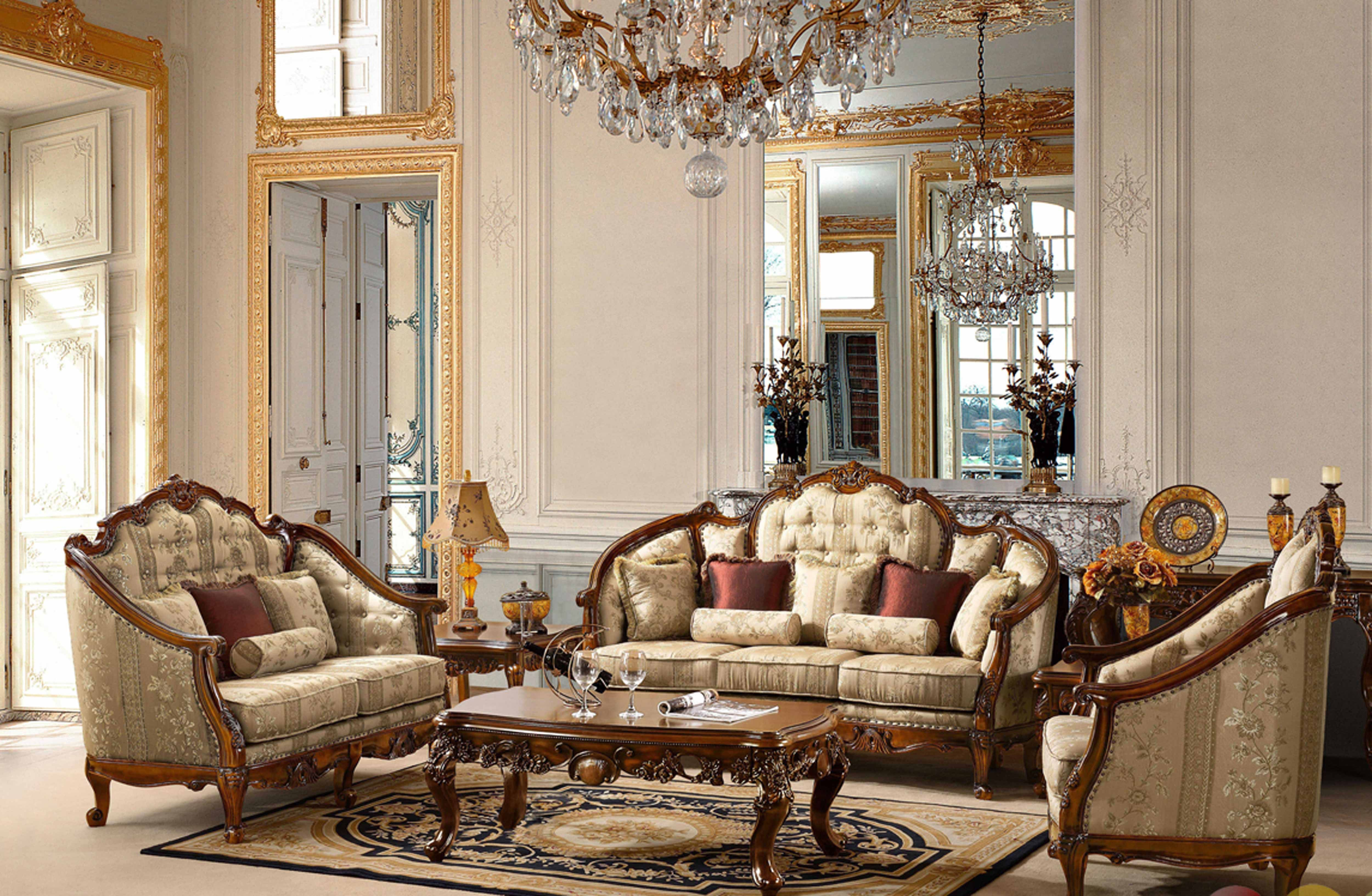 The Living Room Has A Beautiful And Expensive And Elegant Classic Captivating Luxury Living Rooms Furniture 2018
