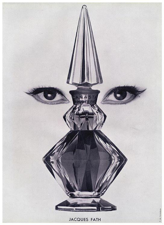 Jacques Fath, Advertisement for Casana Perfume, 1952