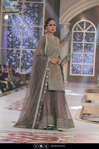 4084eb6a45 Pakistani Grey Bridal Lehenga Choli | Beautiful Design | Elegant & Chic  Pakistani Formal Dresses,