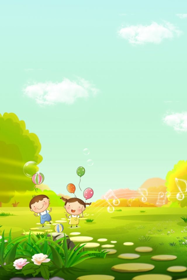 Dibujos Animados Verde Fondo Verde Nino Green Backgrounds Blue Flower Wallpaper Kids Background