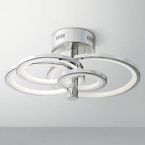 Possini euro budding spheres 25w chrome led ceiling light 9j458 lamps